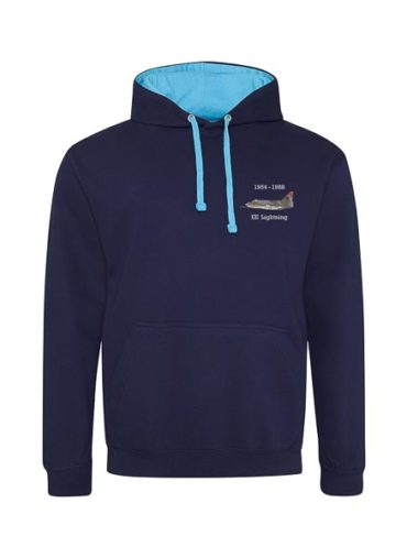 Classic British Aircraft Lightning Navy Blue And Hawaiian Blue hoodie