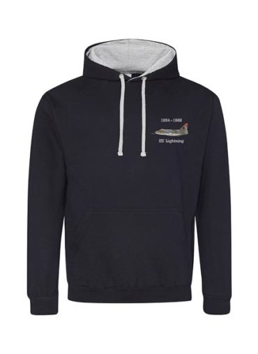 Classic British Aircraft Lightning Navy Blue Hoodie