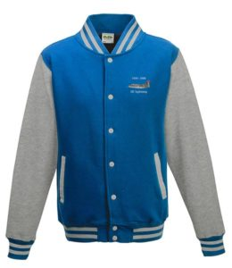 Classic British Aircraft Lightning Sapphire Blue Varsity Jacket