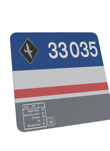 Class 33 33035 Data Panel mouse mat network south east