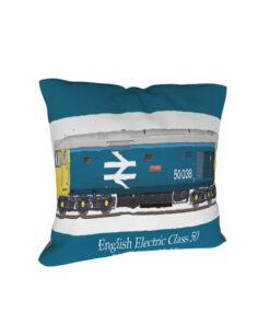 Class 50 50038 Formidable Large Logo Cushion