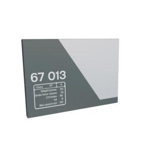 Class 67 67013 Data Panel Chiltern metal sign