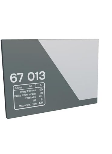 Class 67 67013 Data Panel Chiltern metal sign
