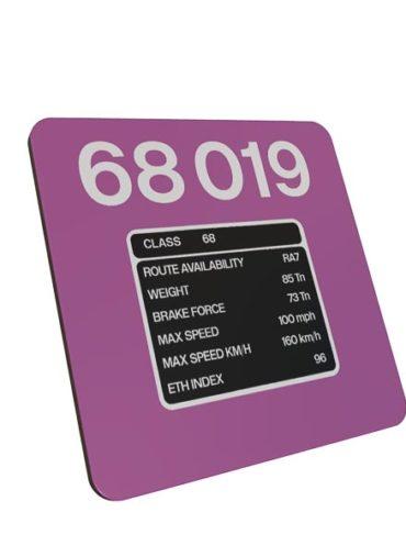 Class 68 68019 TPE metal sign