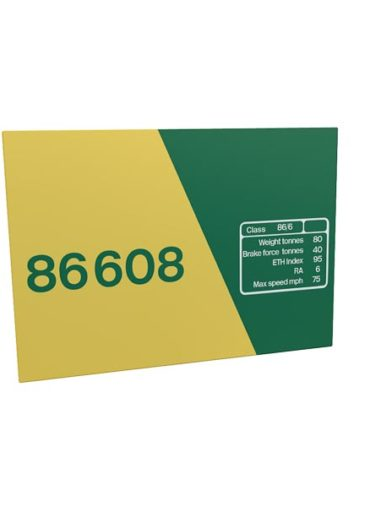 Class 86 86608 Freightliner Data Panel metal sign