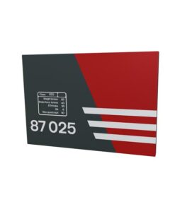 Class 87 87025 Virgin Trains Data Panel metal sign