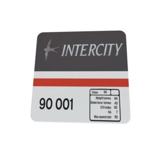 Class 90 Data Panel coaster Intercity