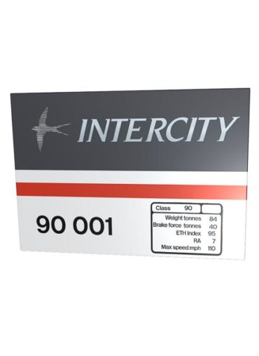 Class 90 Data Panel metal sign Intercity
