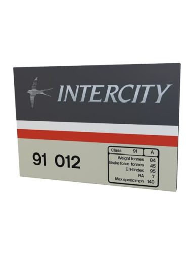 Class 91 Intercity Swallow metal sign