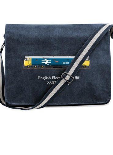 Messenger Bag Blue 50021 Large Logo