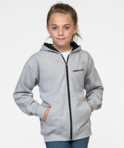 Childrens Zipped Hoodie Lancaster Classic Military Aircraft