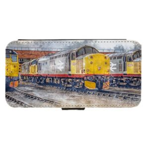 class 37s on thornaby art Mobile Phone Flip Case
