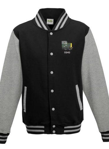 Class 40 D242 Flat Front BR Green Black Varsity Jacket