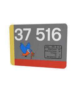 37516 Red Stripe Railfreight Mouse Mat