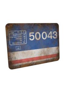 50043 NSE Flamecut Data Panel Mouse Mat