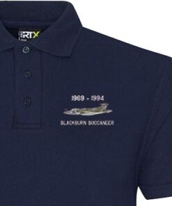 RAF Buccaneer Classic Military Aircraft Navy Blue Polo snippet