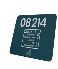 08214 data plate coaster