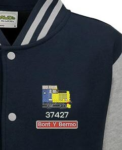 Class 37 Large Logo Oxford Blue Varsity Jacket snippet