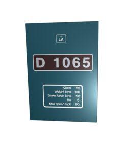 D1065 BR Blue Metal sign