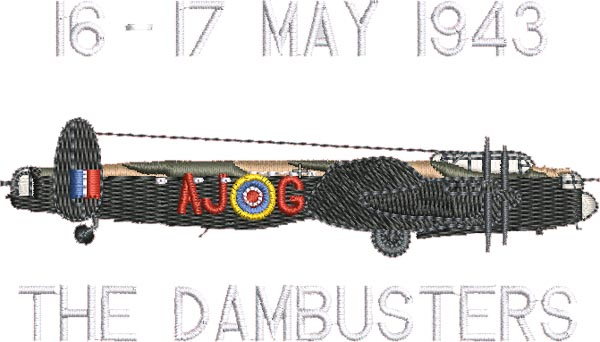 New Dambusters Embroidered Designs Added - GDMK Images