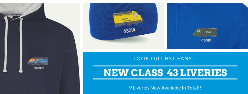 New Class 43 HST Liveries Added to Clothing Range - GDMK Images