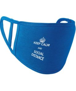 Keep Calm and Social Distance Face Mask