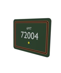 72004 BR Lined Green Metal Sign